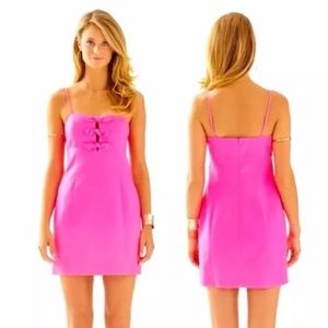 Lilly Pulitzer Petra Tropical Pink Bow Dress